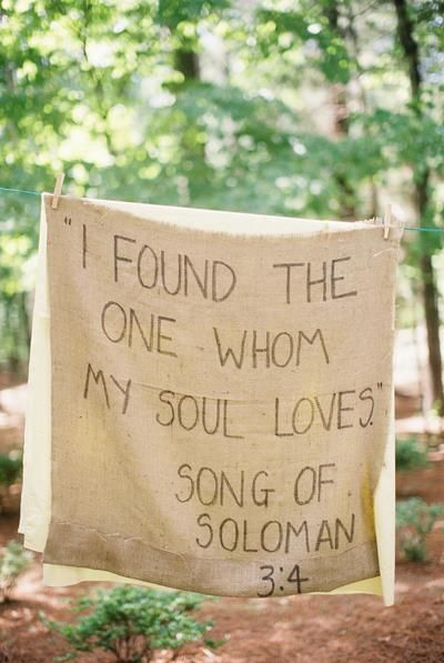 Cept On A Wooden Sign I Have Found The One Whom My Soul Loves Song Of Solomon For Wedding Decoration
