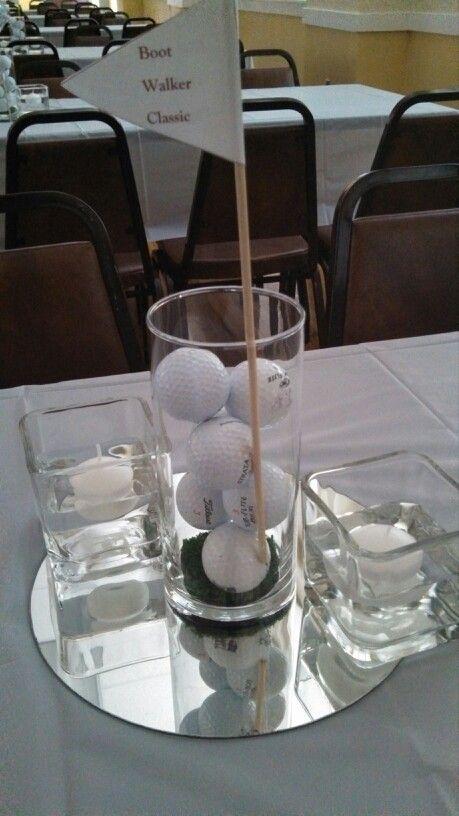 Golf banquet centerpiece
