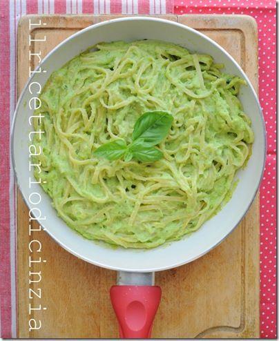 ilricettariodicinzia: bavette cremose alle zucchine