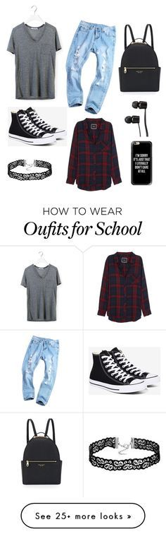 """""""Back to School"""" by rita-malakyan on Polyvore featuring T By Alexander Wang, Converse, Rails, Henri Bendel, Vans and Casetify"""