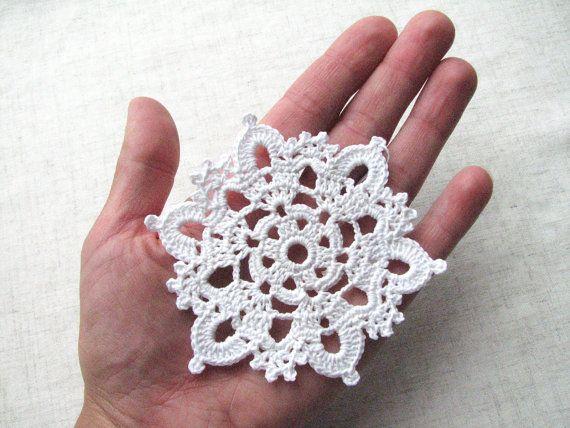 Crochet snowflakes decori casa natale Natale ornamenti