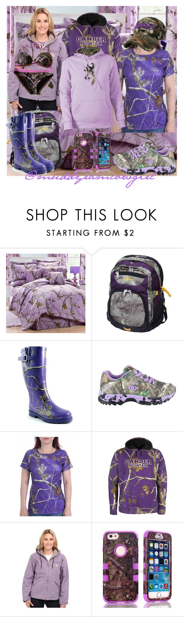 """""""Purple Realtree"""" by muddyramcowgirl ❤ liked on Polyvore featuring Realtree, Carhartt and plus size clothing"""