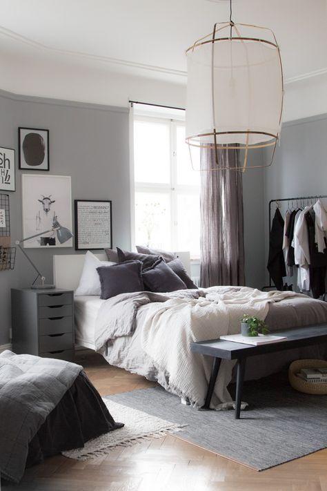 Grey Alex Drawers By Ikea Bedroom Design Trends Home Decor Bedroom Scandinavian Design Bedroom