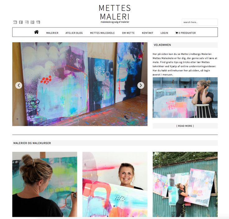 Mettesmaleri sin nye hjemmeside
