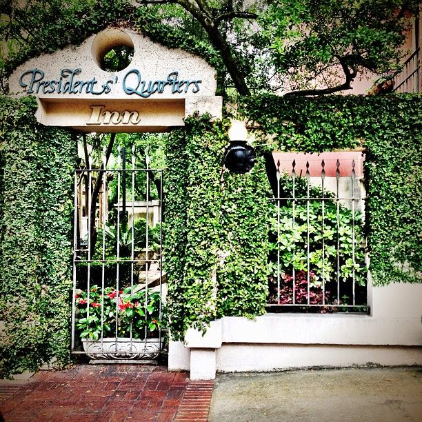 The courtyard garden gate at the Presidents' Quarters Inn - so pretty!