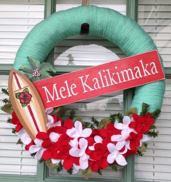 Mele Kalikimaka wreath by Ohanalee on Etsy