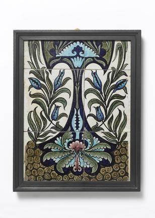 William De Morgan A Persian-Style Tile Panel, circa 1880