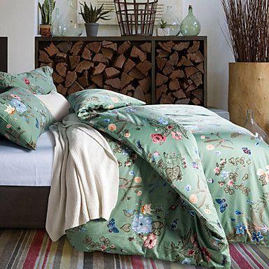 aiwode® 100% bomull drottning kung påslakan ställer comfortble (4 stycken sängkläder set) – SEK Kr. 842