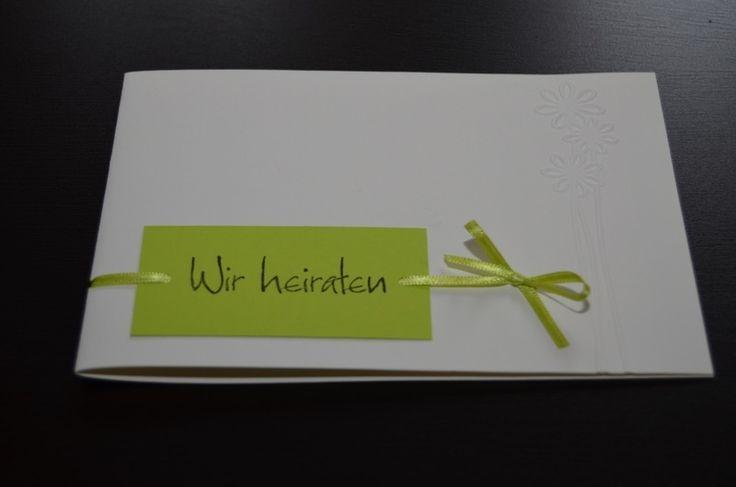 Schlichte Einladungskarte (individualisierbar) von Annes Bastelstube auf DaWanda.com