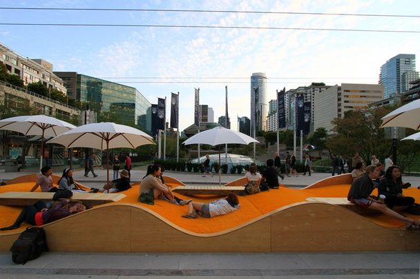 playful street furniture in Vancouver