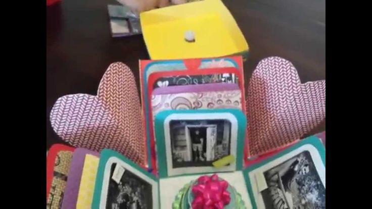 Birthday Explosion Box! Origami Cards!