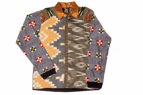 Mens Button Down Long Sleeve Shirt Mens Shirt by PrinceandDyer