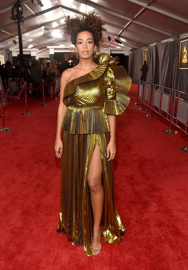"Solange's Makeup Artist On How To Get Her All Natural Grammys Look: We caught up with her makeup artist, Dana Delany, who is evidently as in awe of Solange as the rest of us. ""I was definitely inspired by Solange herself,"" Delany said. ""She's very involved in her look and how she appears aesthetically—and doesn't care what people think. Solange loves a more paired down natural look with an element of interest, so we were really just trying to keep her looking like herself."" 
