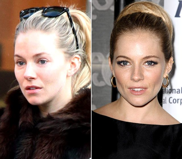 Stars Without Makeup: Sienna Miller