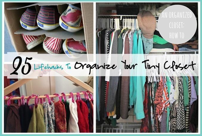 25 Lifehacks : Organize Your Tiny Closet! | Just Imagine - Daily Dose of Creativity