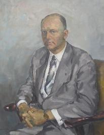 Omschrijving  1x Olieverf op doek van Theo Haanebrink; Titel: Herenportret; Jaartal: 1961; Afmetingen: 100x80 (zonder), 120x100 (met lijst); Gesigneerd
