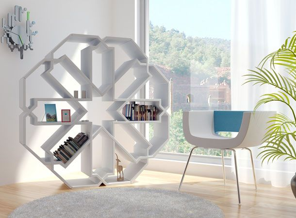 The Zelli  This award winning bookshelf design is beautiful and so easy to  assemble  Just watch designer Younes Duret assembling it in this video. 136 best Islamic furniture design images on Pinterest   Islamic