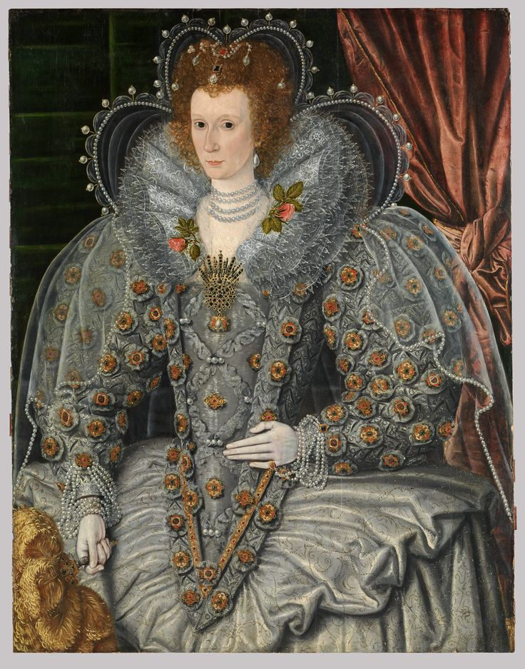 Portrait of an Elizabethan era woman around the year 1600 A.D.