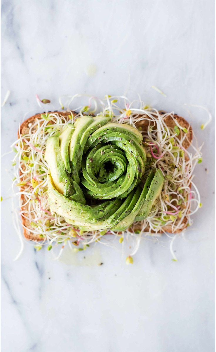 Avocado Flower: By now, you're an old pro at this whole avocado toast thing. Challenge yourself to create this gorgeous work of edible art. All you need is your favorite eureka! Organic Bread, half an avocado, some sprouts, black pepper and patience...plenty of patience. Just kidding – it's actually easier than you think!