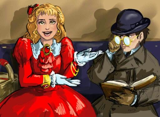 Dimity & Pillover from The Finishing School Series by gail carriger Art by poisonmilow on DeviantArt