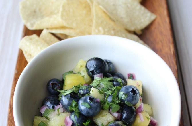 Blueberry #pineapple #salsa, anyone?