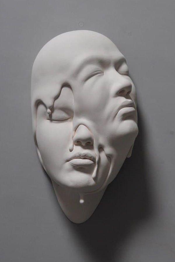 Johnson Tsangreinterprets reality with his surreal sculptural faces.