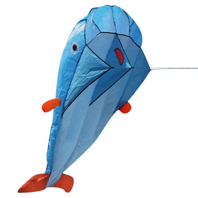 One Set 3D Huge Soft Parafoil Giant Dolphin Kite Outdoor