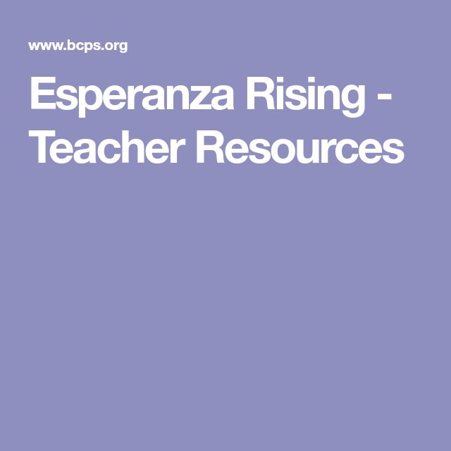Esperanza Rising - Teacher Resources