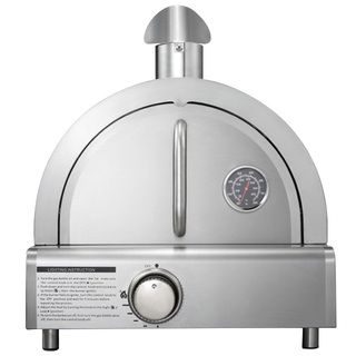 Raise your love for pizza to a whole new level with this portable stainless steel Mont Alpi pizza oven, which comes equipped with a pizza stone and a 12,000 BTU burner. Take this oven with you for cam More