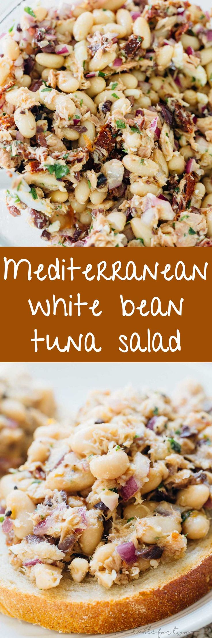 Mediterranean tuna white bean salad is full of flavorful ingredients and deliciously tasty tuna that is full of protein! An easy and healthy lunch option for those who are looking for new lunch ideas that will keep you full! #ad @genovaseafood