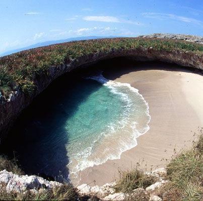 La-Playa-Escondida-en-Islas-Marietas-MéxicoI - Bahía de Banderas. #cosasquemehacenfeliz