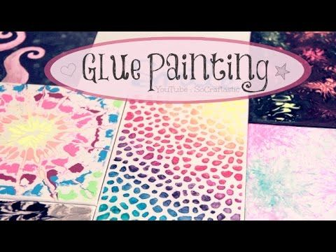 DIY Glue Painting - use white glue and a bit of paint 2 make super cool and easy designs that will dazzle ur friends away