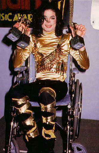 Michael Jackson at the Soul Train Awards in 1993.