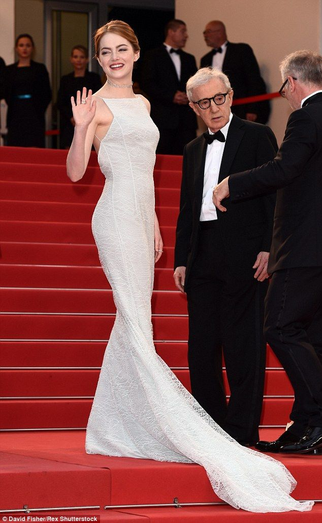 Style star: Emma Stone truly wowed in a beautiful Dior gown at the film's premiere at Cannes Film Festival on Friday night