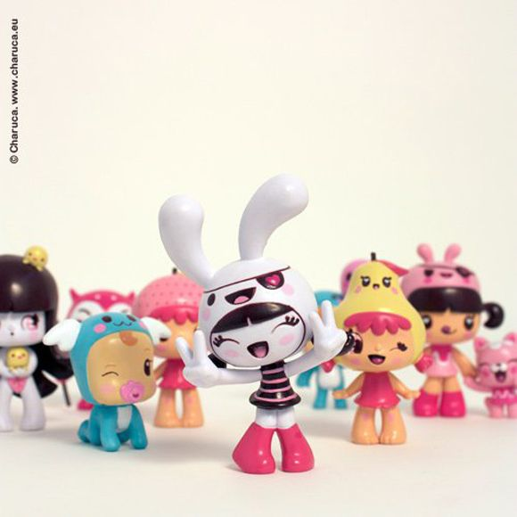 Toy design. Charuca Minitoys ^^ by Charuca Vargas, via Behance