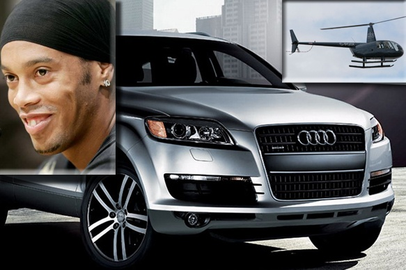 Ronaldinho - his daily drive is the truck-like Audi Q7.