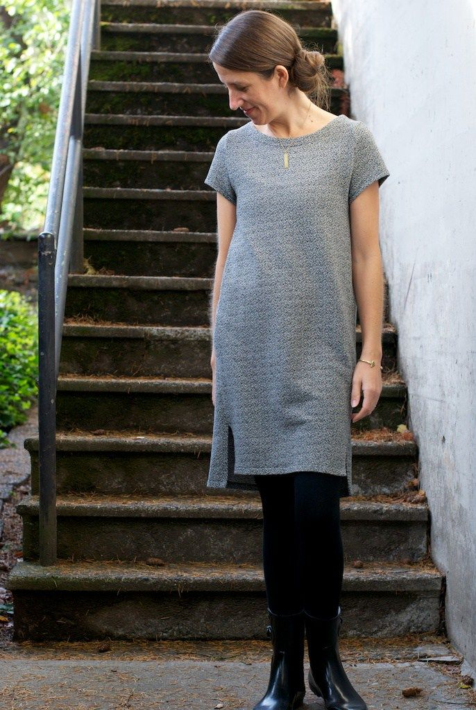 Named Inari Tee Dress | french terry knit