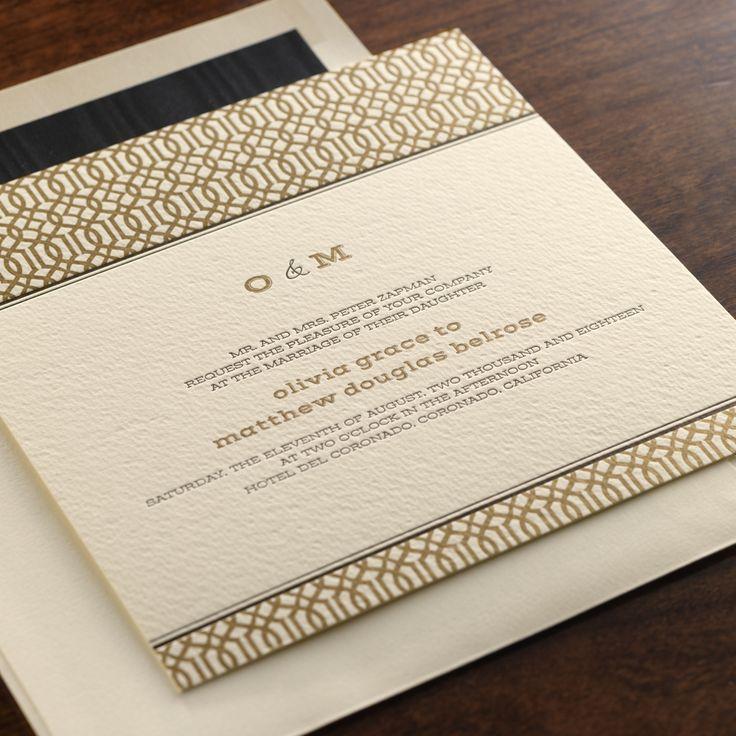 Zurich by Checkerboard letterpress wedding invitation