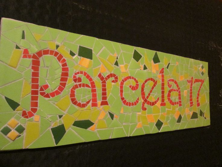 letrero de mosaico