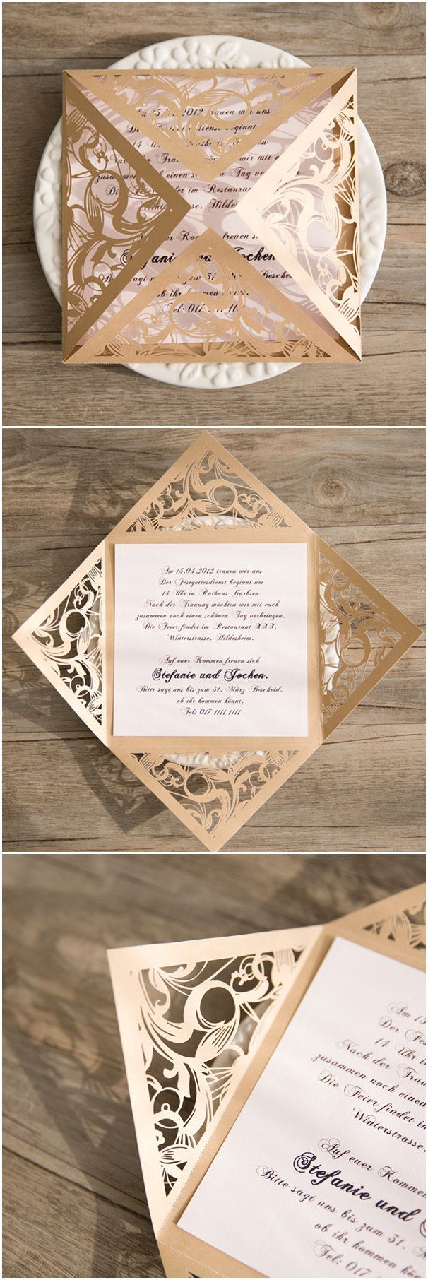 wedding shower invitations omaha%0A elegant blush pink and gold laser cut wedding invitations