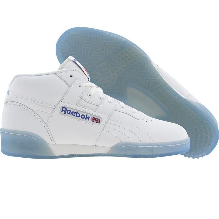 Reebok Workout Mid Ice (white / reebok royal / ice) J92627 - $74.99