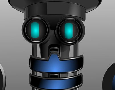 """Check out new work on my @Behance portfolio: """"Happy for Robot"""" http://be.net/gallery/41053811/Happy-for-Robot"""