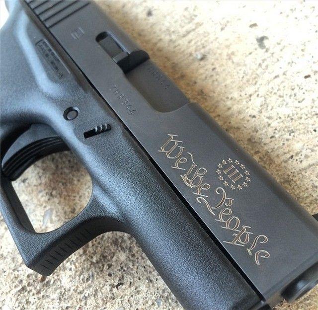 Engraved Glock G43 9mm No Reserve Nr 9 43 Compact Guns