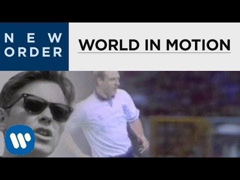 New Order - World In Motion [OFFICIAL MUSIC VIDEO] A classic! John Barnes raps!