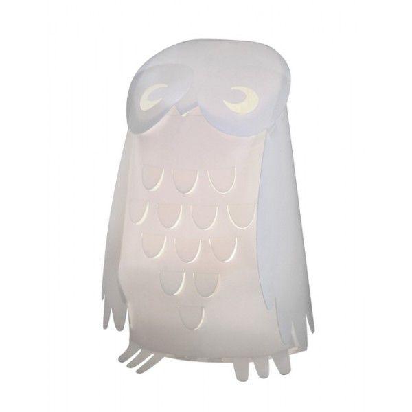 Lampada da tavolo a forma di gufo, un amico ideale per illuminare la cameretta nelle notti più buie.