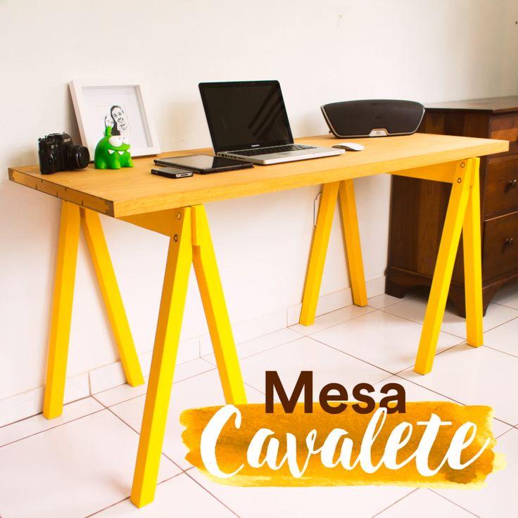 DIY - mesa cavalete  Confira o passo a passo no canal diycore www.youtube.com/diycore