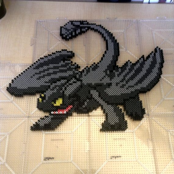 Toothless perler bead by Chaoticbeads on Etsy