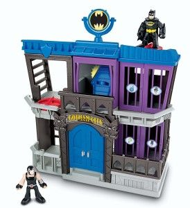 DC Super Friends Gotham City Jail Boys can play out their favorite super hero moments with Imaginext Batman Gotham Jail. http://bit.ly/1s8J3oc