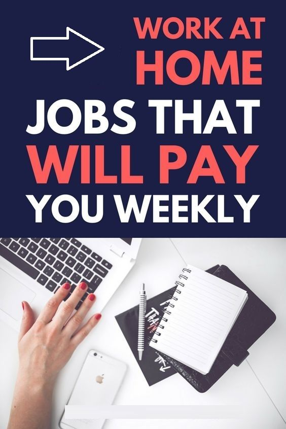 I've made a list of online jobs that pay weekly, daily, or ...