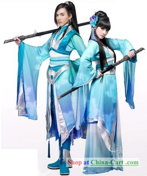 Chinese Men and Women Sword Dresses. Costume inspie.